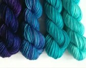 Hand dyed gradient wool y...