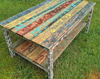 outdoor coffee table etsy