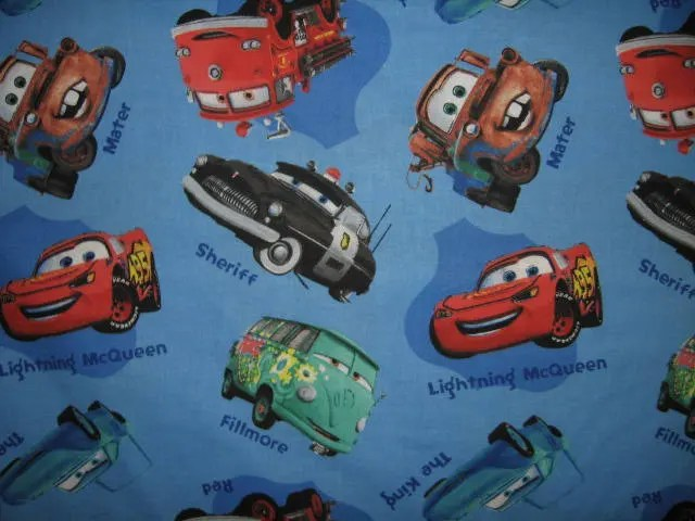 Cars fillmore   Etsy Disney Pixar Cars fabric Sherif Mater the king Fillmore red blue sewing  cotton to sew