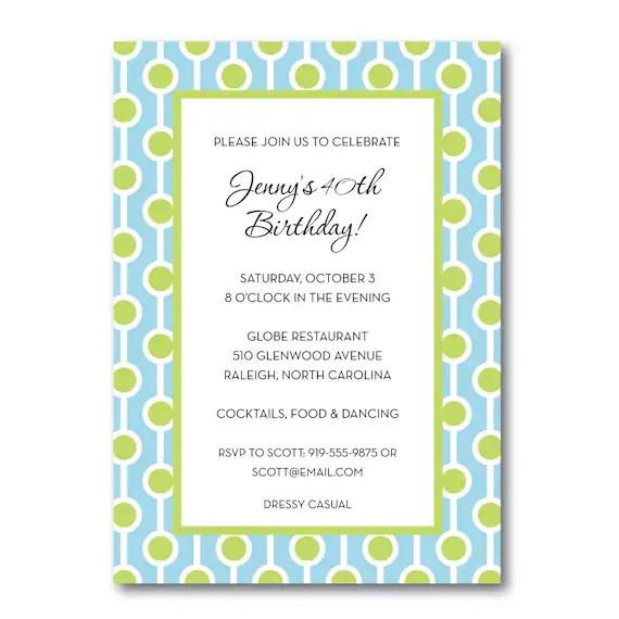 birthday party invitation milestone