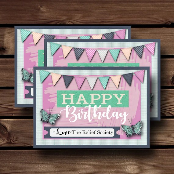 Relief Society Birthday Gifts Relief Society Printable Lds Etsy