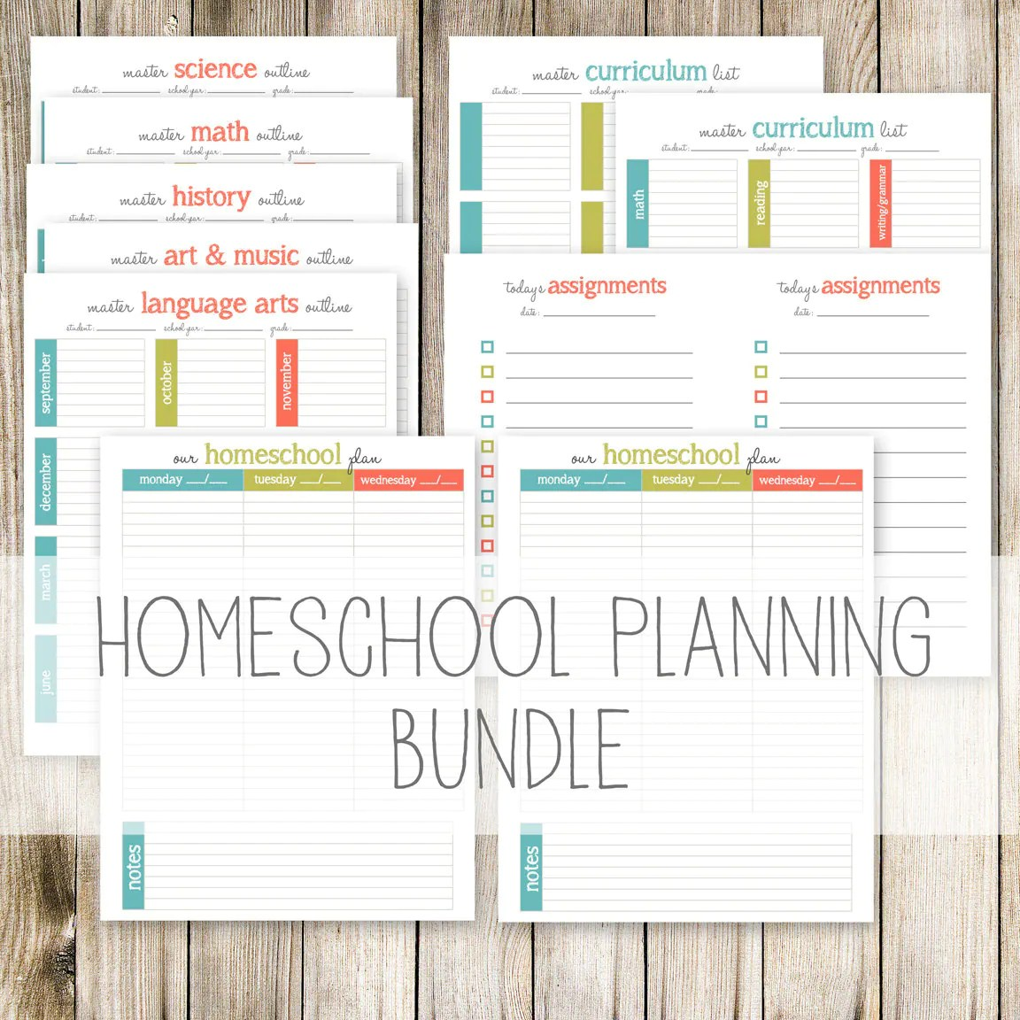 Homeschool Planning Bundle 11 Printable Planning