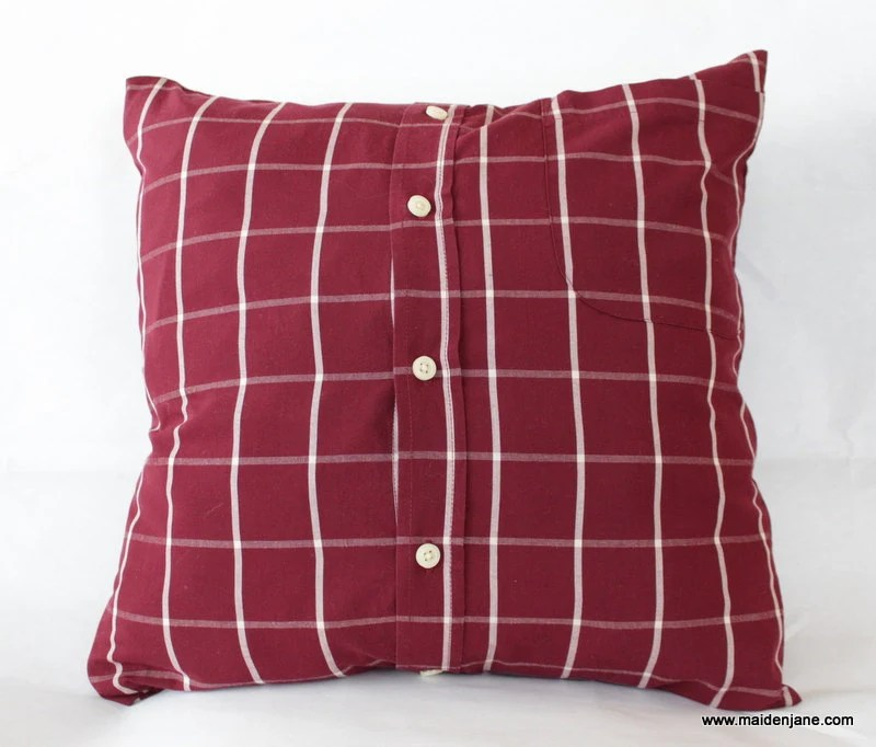 custom memory pillow made from button down shirt made to order from your shirt