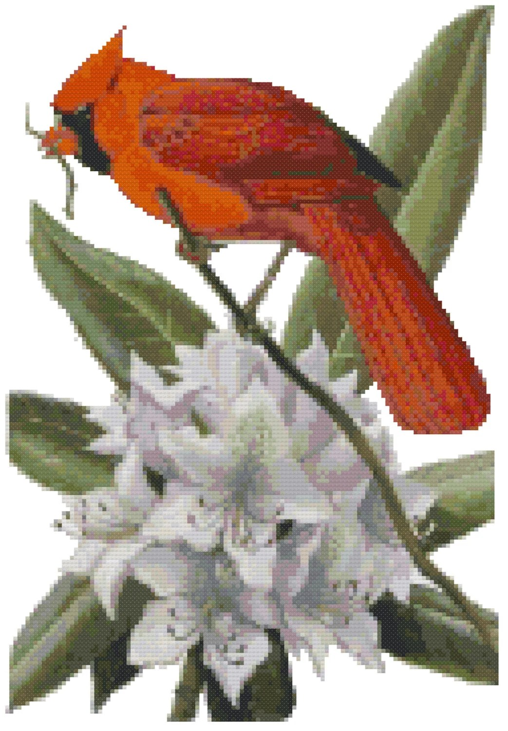 West Virginia State Bird Amp Flower Counted Cross Stitch