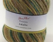 deSTASH worsted yarn, Worsted weight knitting yarn, multi color yarn, yarn for felting, variegated knitting yarn, yarn place adalie, teal