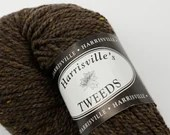 deSTASH Yarn, Harrisville Designs, Harrisville's Tweeds, worsted weight yarn, dark brown wool, knitting yarn, crochet, yarn for weaving