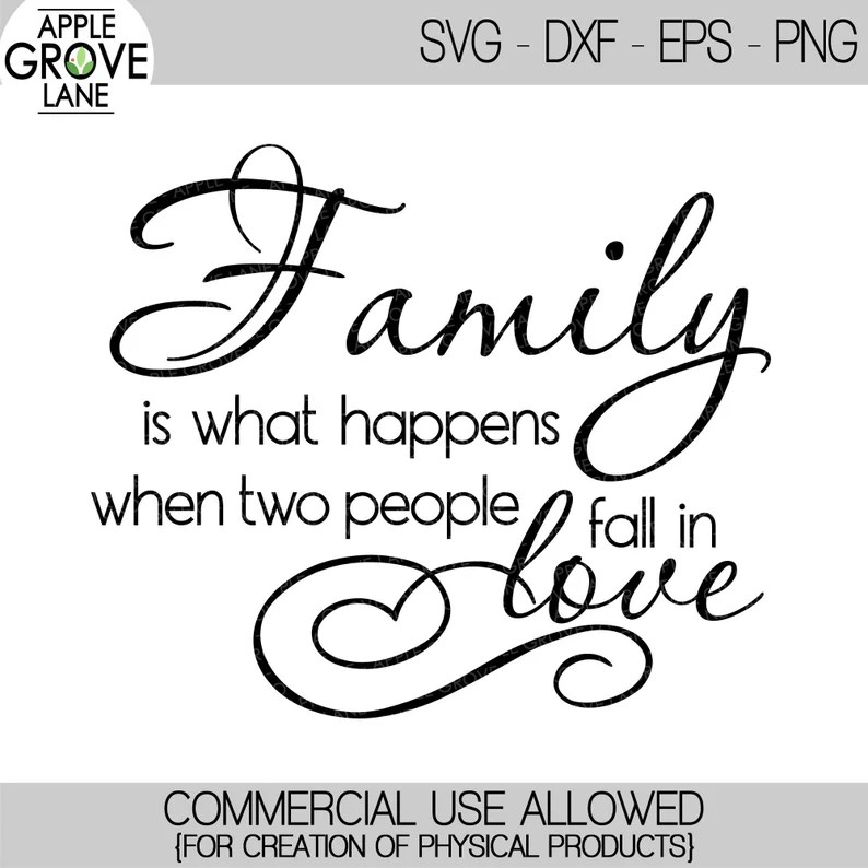 Download Family is What Happens SVG Fall in Love SVG Love Svg | Etsy
