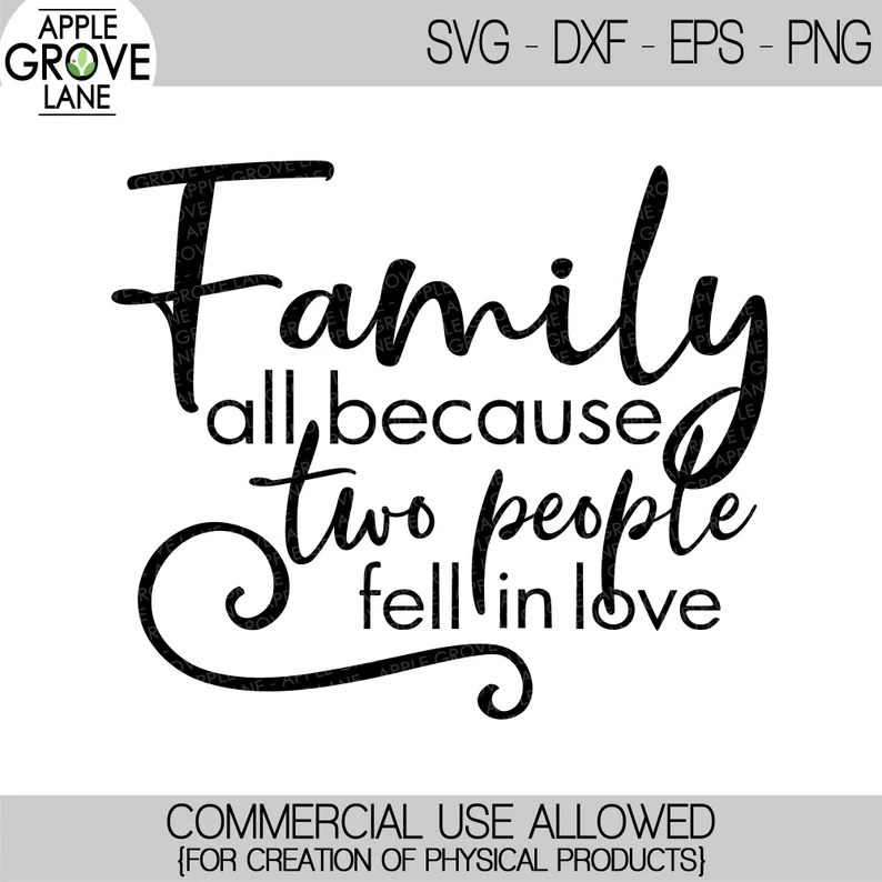 Download Because Two People SVG Fell in Love SVG Love Svg Wedding ...