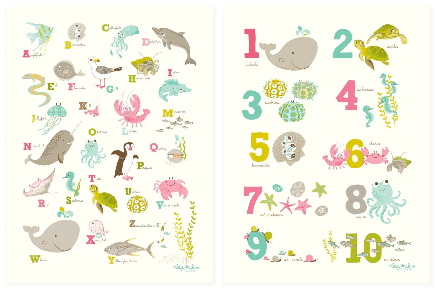 Beautiful Ocean Color By Numbers For Kids
