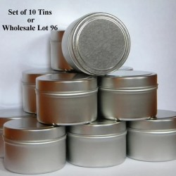 Empty Metal Tins With Lids 4 Oz Tins Set Of 10 Or Wholesale Etsy