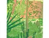 Jamaica original relief print, edition of 10