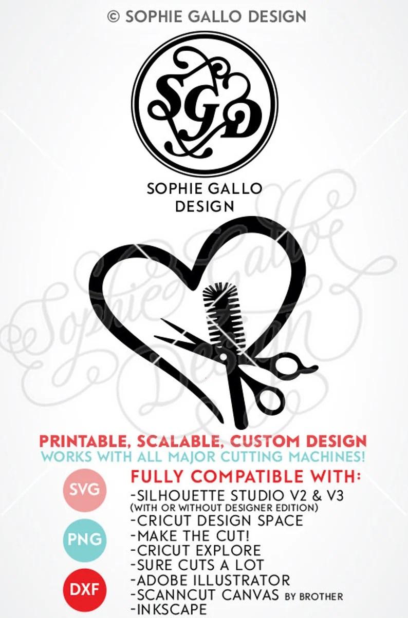 Download Hair Stylist Love Logo SVG DXF PNG digital download files ...