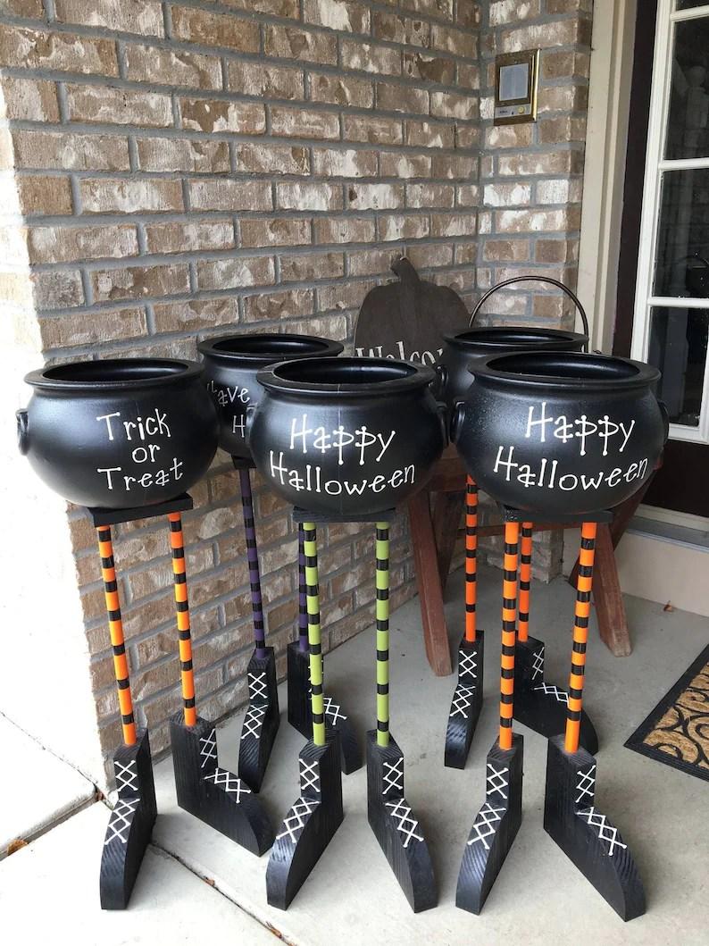 Halloween Cauldron Candy Bowls