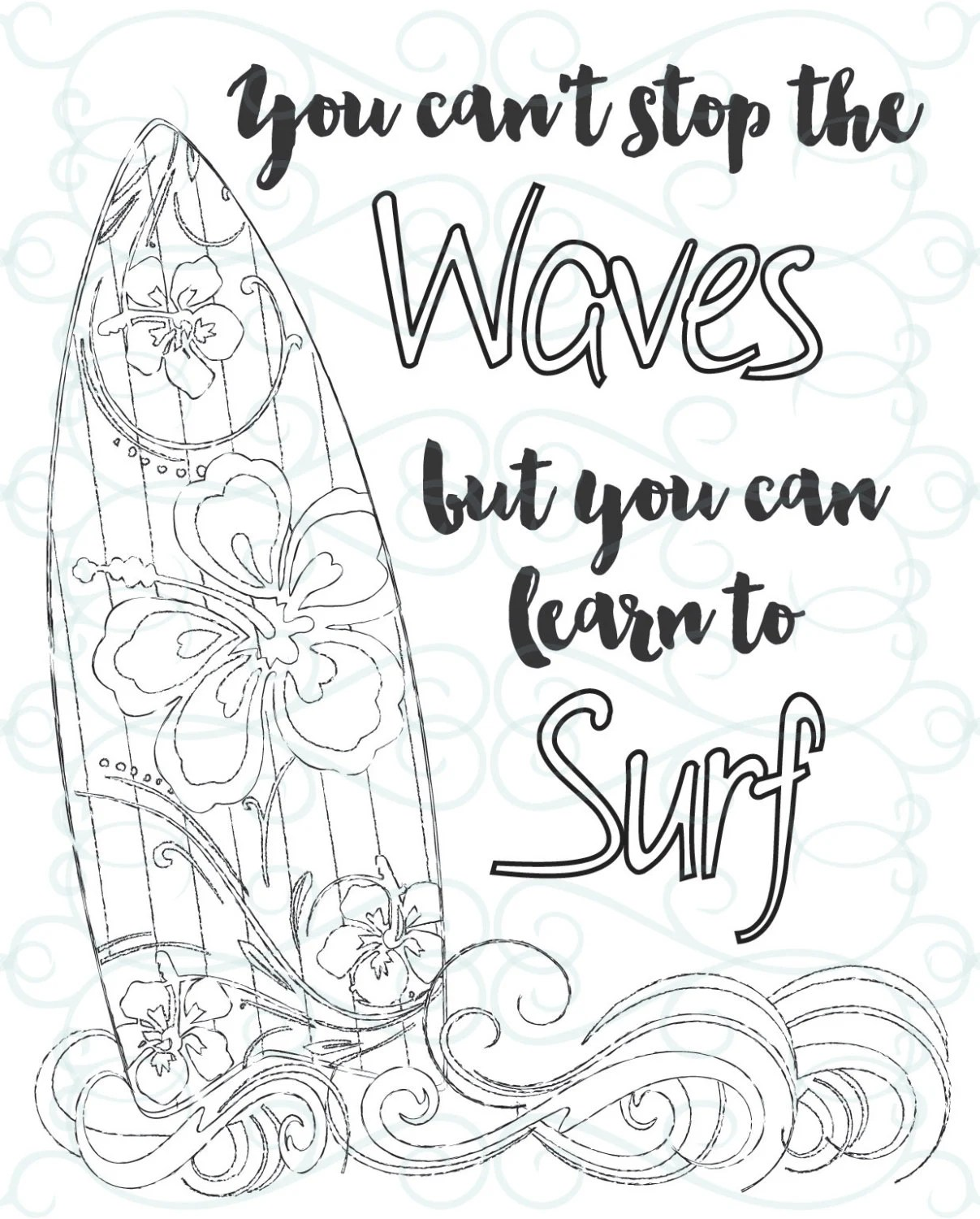 Adult Inspirational Coloring Page Printable 03 Learn To
