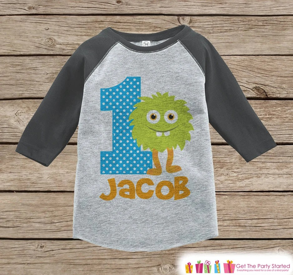 First Birthday Monster Outfit Boys 1st Birthday T Shirt Etsy