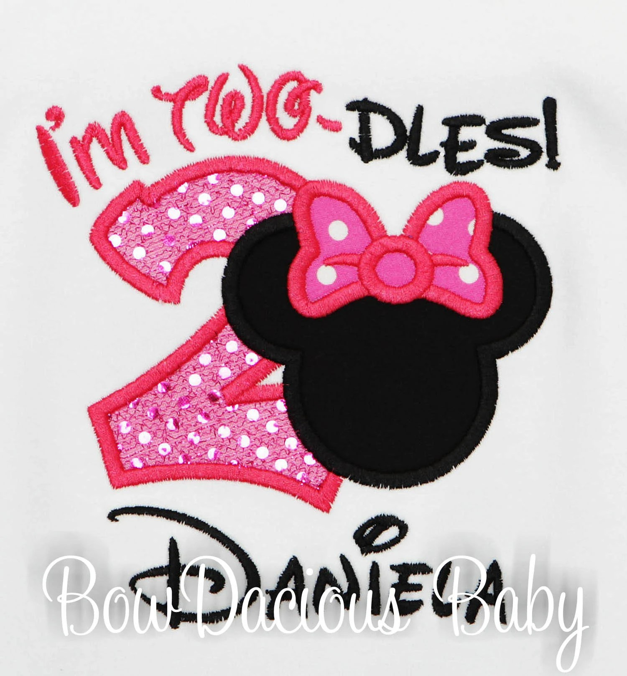 Minnie Mouse Shirt 2nd Birthday Girl