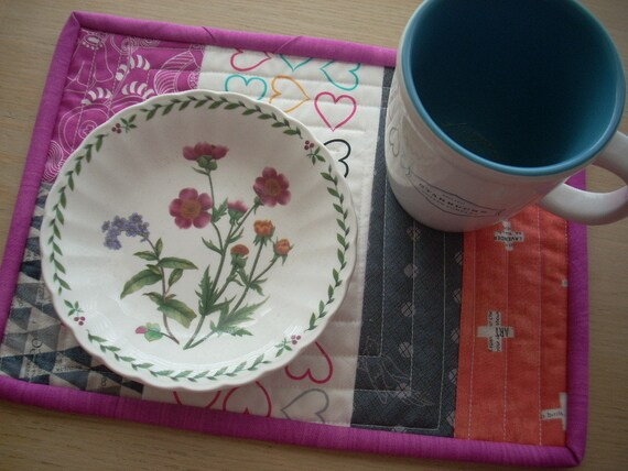 hearts mini place mat - FREE SHIPPING