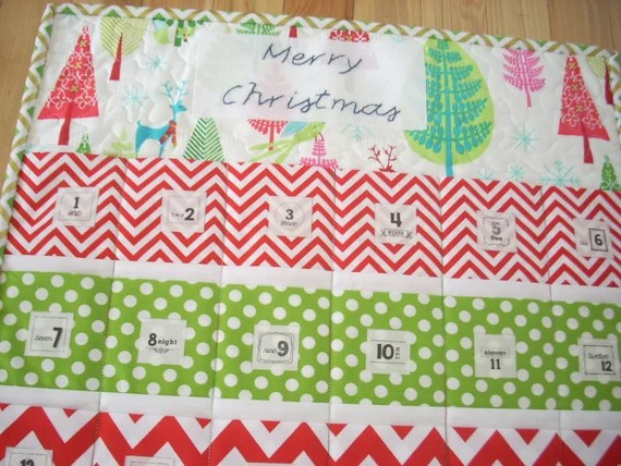 Merry Christmas advent calendar pattern