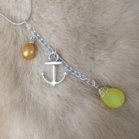 Serpentine + Pearl Dangle...