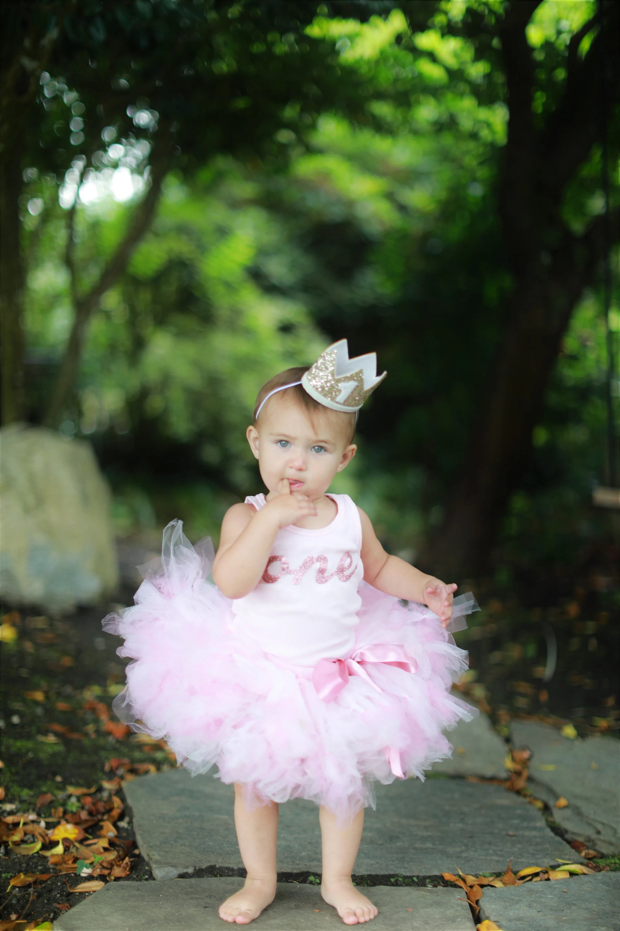 Rose Gold First Birthday Outfit Girl Baby Tutu 1st Etsy