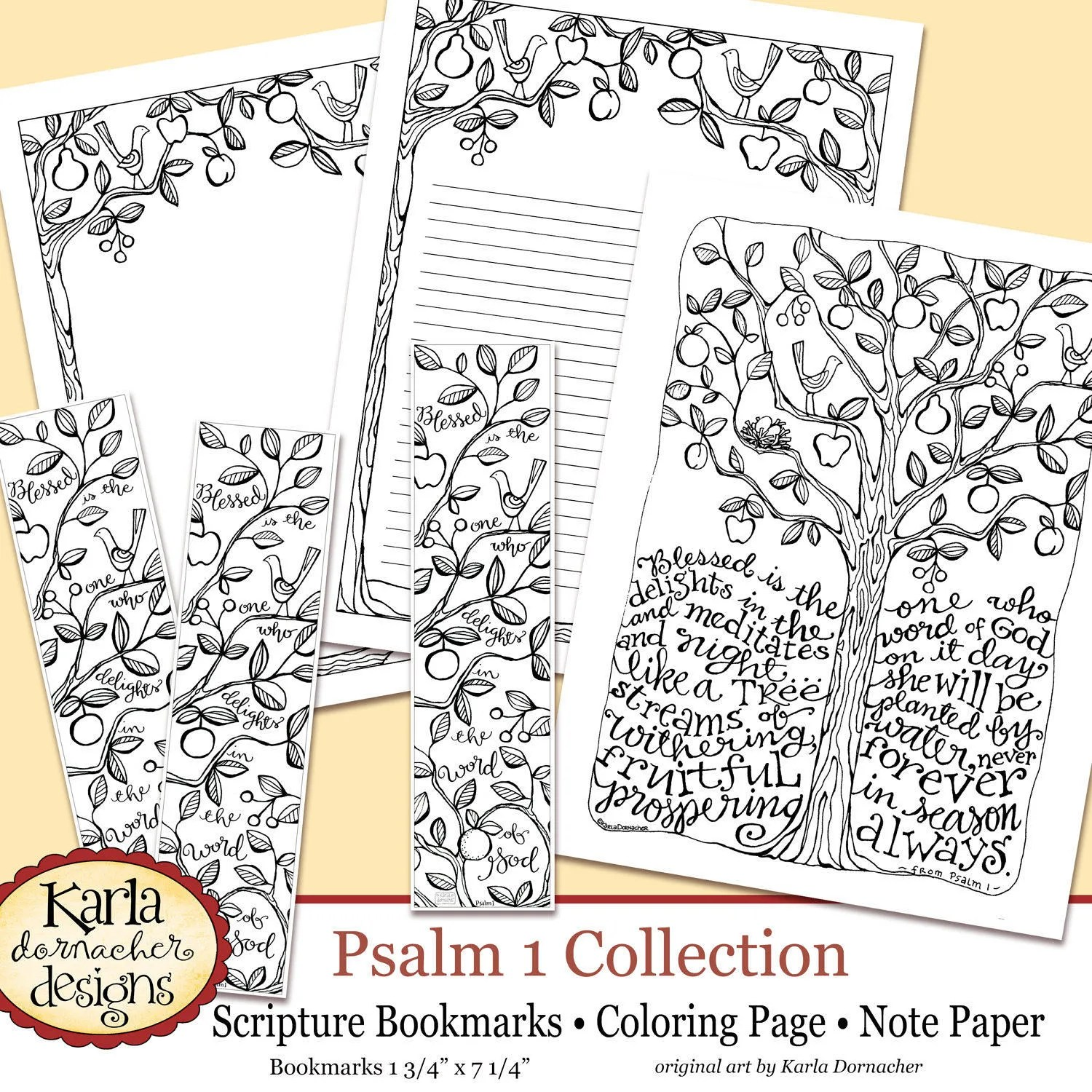 Psalm 1 Be Like A Tree Bible Journaling Color Your Own