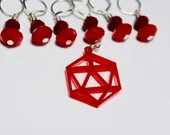 D20 Stitch Markers