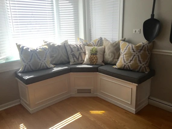Banquette Corner Bench Seat With Storage Unfinished Etsy