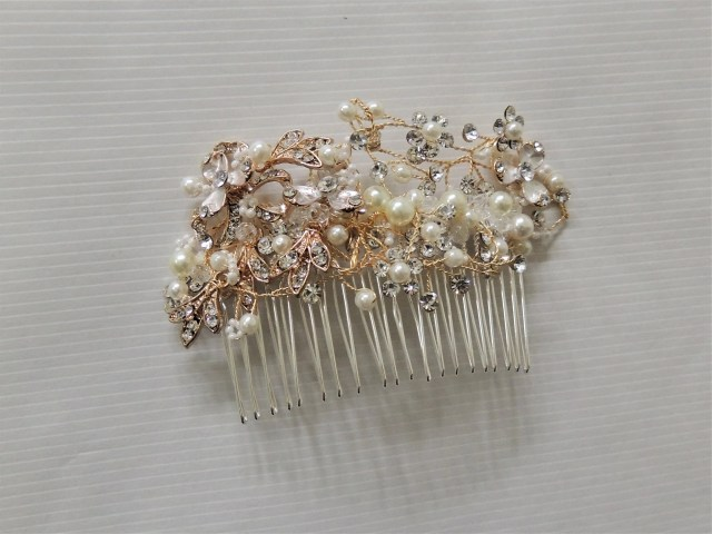 side bun hair leaf wedding bridal hair accessories