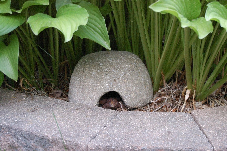 Hypertufa Toadhouse Frog House Outdoor Garden Decor