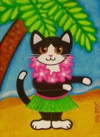 Image result for tuxedo cat hawaiian