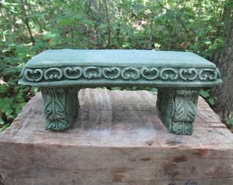 concrete bench etsy