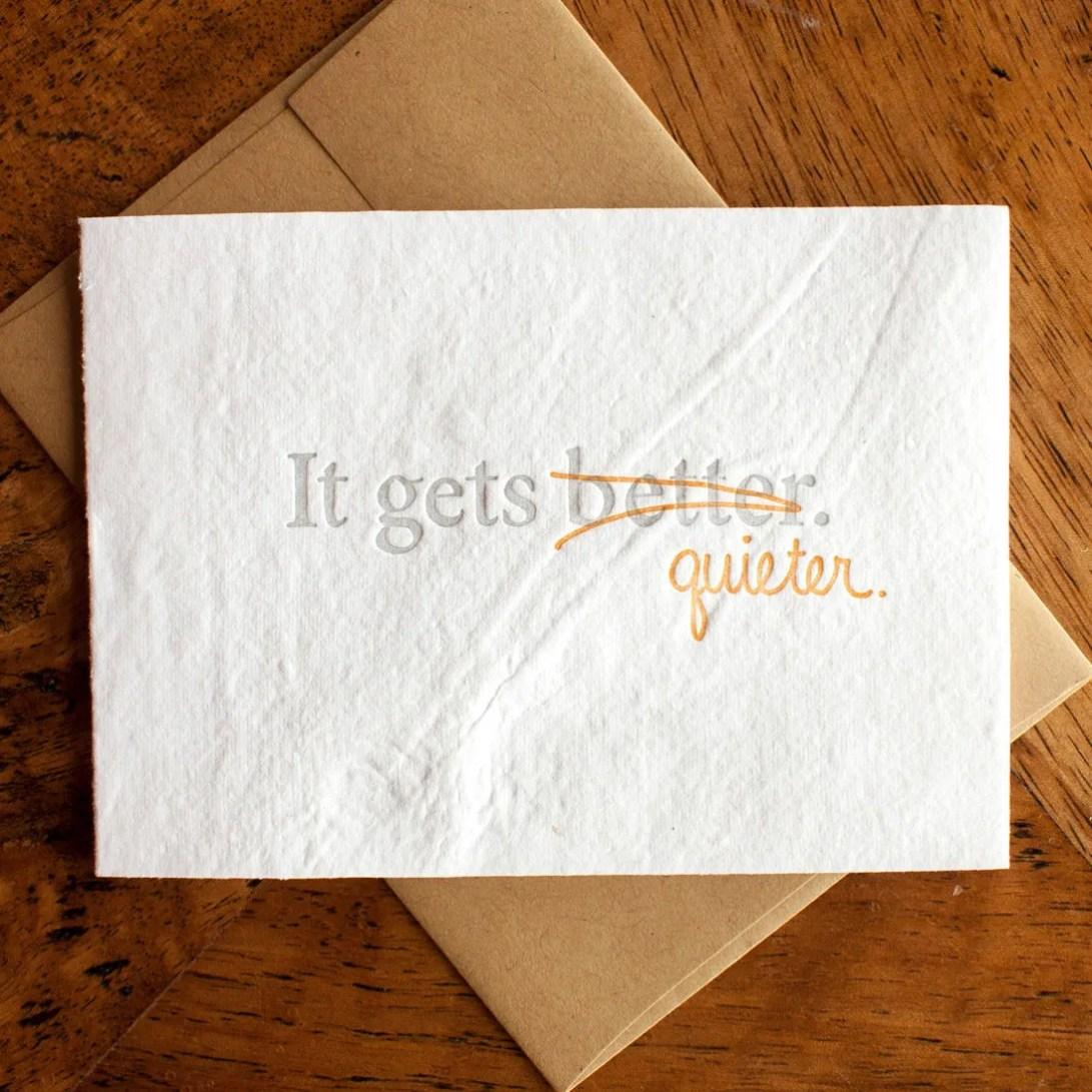 It Gets Quieter - Card...