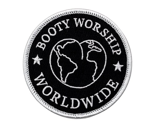 Booty Worship Worldwide Club Patch Booty Globe Embroidered Patch Butts World Iron On Patch