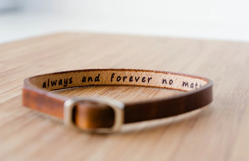 Personalized Leather Bracelet image 0