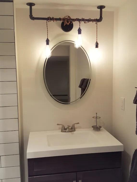 3 pendant light wrap vanity light bathroom lighting fixture industrial pipe