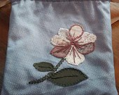 Drawstring Bag- White Flower Medicine Bag