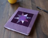 Modern Quilt Journal Book Cover - Purple Star