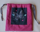 Drawstring Bag Modern Quilting Butterfly 10