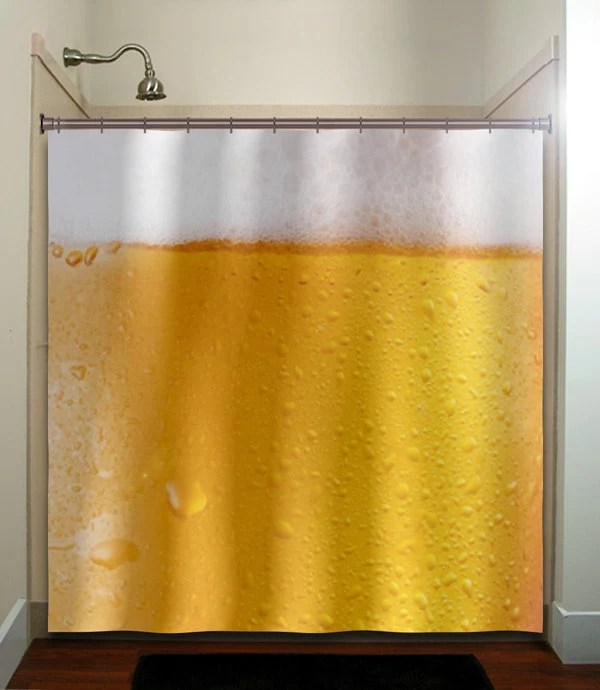beer shower curtain etsy
