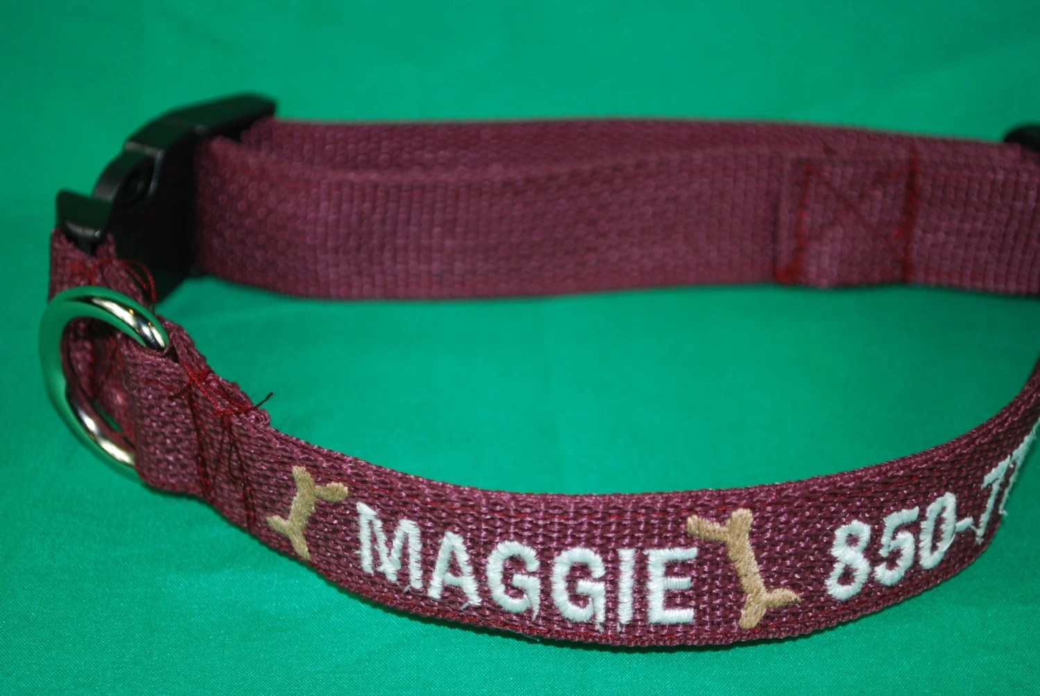 Personalized Dog Collar Dog Collar with Embroidered Name and image 7