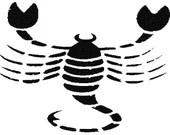 Scorpio horoscope digital embroidery design, Scorpio horoscope digitized embroidery design