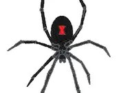 Black widow spider embroidery design, Spider digitized embroidery design