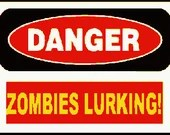Danger zombies lurking digital embroidery design, Zombies lurking digitized embroidery design