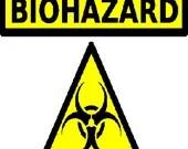 Biohazard digital embroidery design, Biohazard digitized embroidery design