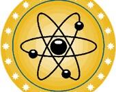 Apocalypse atomic bomb badge digital embroidery round design, Apocalypse atomic bomb digitized embroidery design