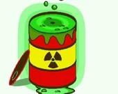Zombie apocalypse nuclear radiation spill digital embroidery design, Radiation spill digitized embroidery design