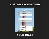 Planner customized with portrait image background of your choice