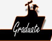 Graduate digital embroidery design, Graduate digitized embroidery design