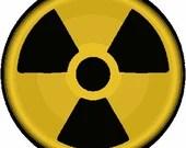 Zombie apocalypse nuclear radiation symbol digital embroidery round design, Radiation symbol digitized embroidery design