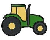 Farm tractor embroidery design, Farm tractor digitized embroidery design